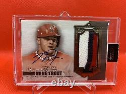 2019 Topps Dynasty Mike Trout Jumbo 3-Color Patch Signed AUTO /10 Angels SSP