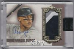 2019 topps Dynasty AARON JUDGE #/10 Sick 3-Color Patch Auto New York Yankees