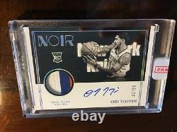 2020-21 Panini Noir Obi Toppin RPA RC Patch Auto Black And White #3/99 3 Color