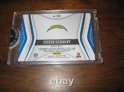 2020 Certified Freshman Fabric JUSTIN HERBERT Auto 4 Color Patch RPA RC /225