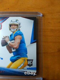 2020 Limited Justin Herbert RPA Chargers On Card Auto 3 Color Patch #/49