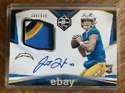 2020 Limited Justin Herbert Rookie Patch Auto On Card 4 COLOR RPA /149 RC ROY