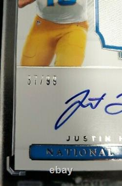 2020 National Treasures Justin Herbert 3 Color Patch Rookie Auto True RPA 37/99