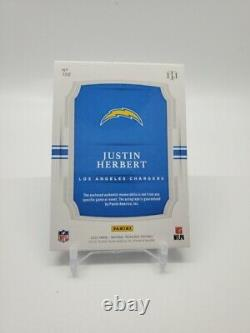 2020 National Treasures Justin Herbert 4 Color Patch Auto Midnight 20/20 ROY RPA
