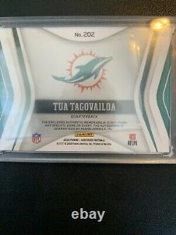 2020 Panini Certified Tua Tagovailoa Rookie Patch (4 color) Auto 1/10! Near Mint