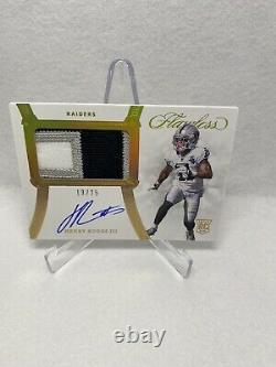 2020 Panini Flawless Henry Ruggs III RPA RC Rookie 3-Color Patch AUTO 13/25 Gold