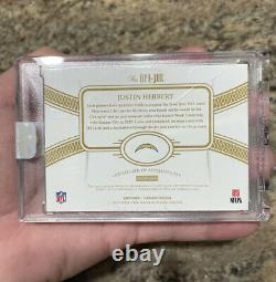 2020 Panini Flawless Justin Herbert RPA RC Rookie 4-Color Patch AUTO Gold 9/25