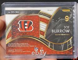 2020 Select Joe Burrow Green Checkered RPA #1/5 SSP 3 Color Patch Auto Bengals