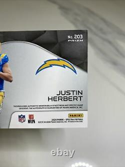 2020 Spectra JUSTIN HERBERT RPA RC 4 Color Patch Auto Hyper #62/75 CHARGERS
