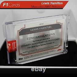 2020 Topps Dynasty Formula 1 Lewis Hamilton Auto Patch 10/10 (Duel Color Patch!)
