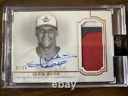 2020 Topps Dynasty Juan Soto 3 Color Patch Auto 1/10 Nationals