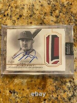 2020 Topps Dynasty Mike Trout Autograph Multi Color Patch Auto #5/10 Angels Sp