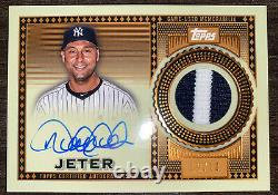 2021 Topps Reverance Derek Jeter Auto 2 Color Game Used Patch SSP #9/10 Yankees
