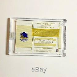2 Color LETTER Patch Auto Stephen STEPH CURRY 2018 18-19 Flawless /25 Warriors