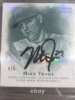 4/5 Topps Dynasty MIKE TROUT 4-Color Patch Autograph! Gem Mt 9.5! 9 Auto