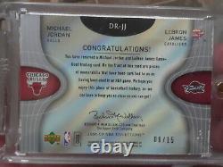 8 /15 2006 Reflections Dual Michael Jordan & Lebron James Patch 6 Colors