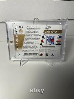 Adam Fox Future Watch Auto Patch #194 030/100 THREE COLOR PATCH