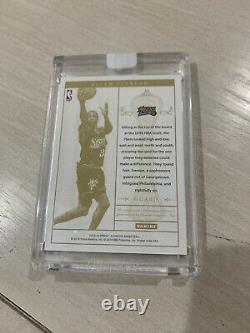 Allen Iverson 2013 2014 Panini Flawless 76ers Auto GU Jersey 3 Color Patch 1/5