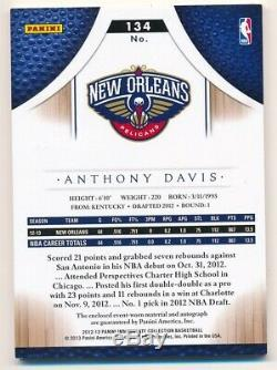 Anthony Davis 2012/13 Immaculate Collection Rc Autograph 3 Color Patch Auto #/99