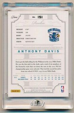 Anthony Davis 2012/13 National Treasures Rc Autograph 3 Color Patch Auto Sp #/25