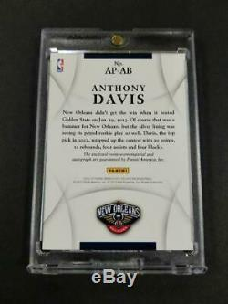 Anthony Davis 2012 Panini Immaculate #ap-ab Auto 3-color Patch Rookie Rc /100