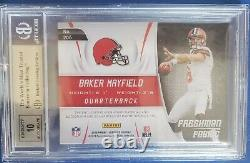 Baker Mayfield 2018 Certified Rc Mirror Red Auto 2 Color Patch #36/75 Bgs 9