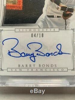 Barry Bonds 2015 National Treasures Silhoutte 4 Color Patch Auto Fantastic Sig