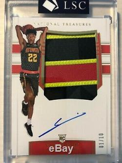 CAM REDDISH National Treasures 2019-2020 GOLD /10 RPA ROOKIE PATCH AUTO 4 COLOR
