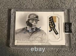 Christian Yelich 2020 Topps Dynasty Auto Game Used 3 Color Patch Sp 5/5 Brewers