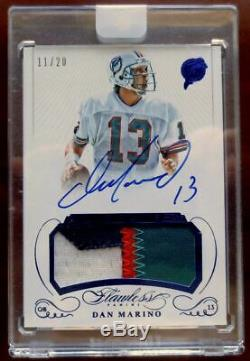 DAN MARINO-2015 Flawless Greats (#11/20) 4-COLOR JERSEY/PATCH/AUTO/AUTOGRAPH