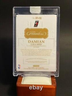 Damian Lillard 2016-17 Flawless Double Patch Auto 3 Color Patch Dame Time
