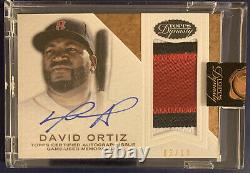 David ORTIZ 2016 Topps Dynasty Encased 3-Color Patch Auto 3/10 #AP-DO6Red Sox