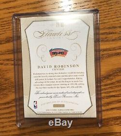 David Robinson On Card Auto 3 Colored Patch #10/25 Rare! Flawless