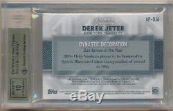Derek Jeter 2017 Topps Dynasty Autograph 2 Color Patch Auto #/10 Bgs 10 Pristine