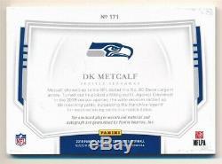 Dk Metcalf 2019 National Treasures Rc Rookie Autograph 3 Color Patch Auto Sp /99