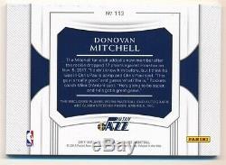 Donovan Mitchell 2017/18 National Treasures Rc Autograph 2 Color Patch Auto #/49