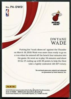 Dwyane Wade 2019 Immaculate Collection 3-color Patch Auto Autograph /25 Rare