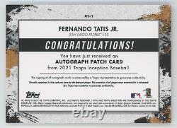 FERNANDO TATIS JR. 2021 Topps Inception PINK 2 COLOR PATCH AUTO 20/75