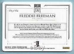 Freddie Freeman 2015 National Treasures 3 Color Patch Printing Plate Auto 1/1