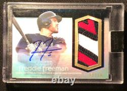Freddie Freeman 2018 Topps Dynasty 3 Color Patch Auto Autograph /10 2020 Mvp