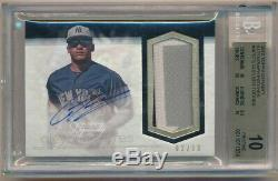 Gleyber Torres 2018 Topps Dynasty Rc Auto 3 Color Patch #02/10 Bgs 10 Pristine