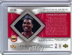 Hakeem Olajuwon 2006-07 UD Exquisite 2 Color Patch Auto Rockets #AP-HO 087/100