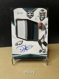 JALEN HURTS 2020 Limited Football RPA 4 Color Patch On Card Auto #d /49 SP