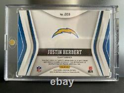 JUSTIN HERBERT 2020 Certified Freshman Fabric 4 Color Auto Patch RC /225 RPA