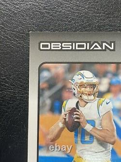 JUSTIN HERBERT 2020 Obsidian RPA In Person Auto 4 Color Patch Rc /50 On Card SSP