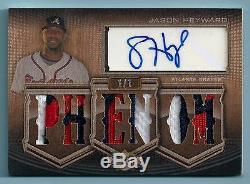 Jason Heyward 2010 Triple Threads 10 Color Patch Autograph Auto 1/1 Braves