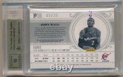 John Wall 2010/11 National Treasures Rc Gold Auto 4 Color Patch #/25 Bgs 9.5 10