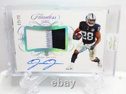 Josh Jacobs 2019 Flawless Football RPA 3 color Rookie Auto Patch Raiders 02/20