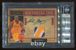 KOBE BRYANT 2009-10 Timeless Treasures 3 Color PATCH On Card AUTO 25/25 BGS 9
