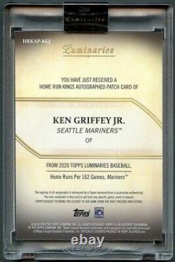 Ken Griffey Jr 2020 Topps Luminaries 40-hr 2-color Patch Auto Autograph #10/15